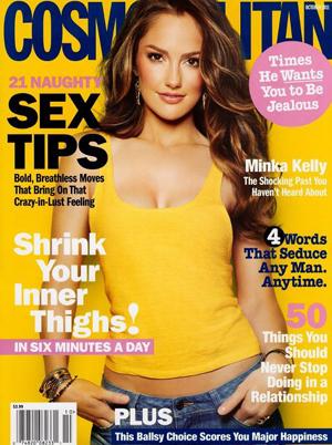 "This cover reads tips like, ""21 Naughty Sex Tips, 4 Words that seduce ANY ..."